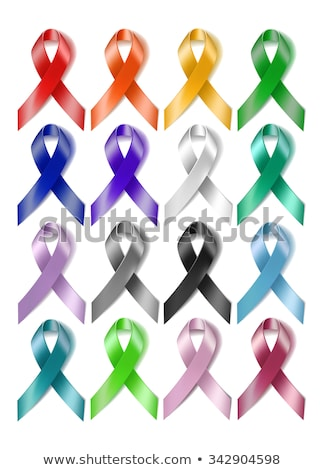 aids awarness ribbon set isolated on white stock photo © lordalea