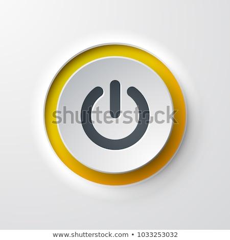 Começar botão metal verde luz escuro Foto stock © fixer00
