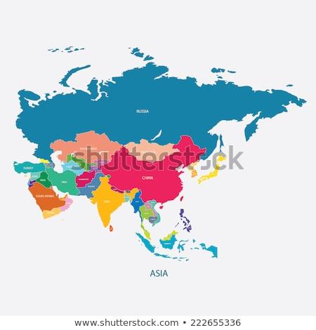 mapa · Mongólia · bandeira · textura · assinar · viajar - foto stock © perysty