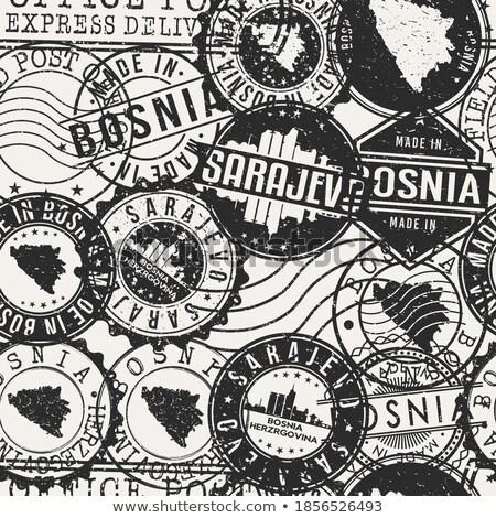 Bosnia · Herzegovina · creativa · sello · oficina · fondo - foto stock © perysty