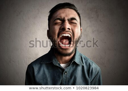 Indian man yelling loudly Stock photo © ziprashantzi