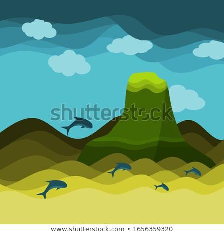 океана аннотация иллюстрация большой копия пространства воды Сток-фото © prokhorov