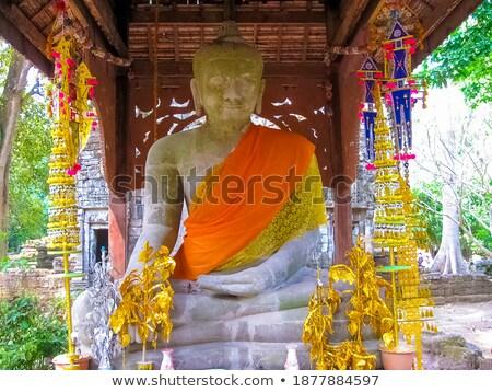 stone art relics at angkor cambodia stock photo © bbbar