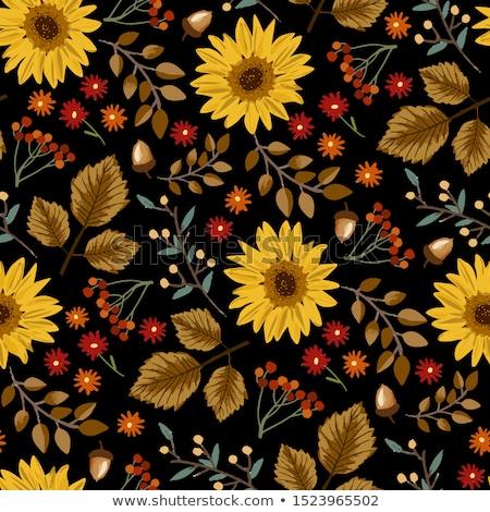 seamless pattern with black pumpkins on orange background stockfoto © annavolkova