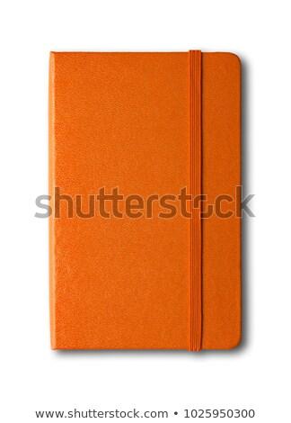 Narancs notebook fehér üzlet iroda textúra Stock fotó © Witthaya