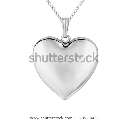 Silver heart pendant necklace Stock photo © gsermek