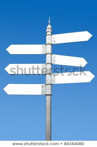 знак пост улице подписать Стрелки фонарь Сток-фото © vaximilian