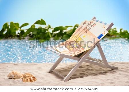 Euro geld zand hemel zomer Blauw Stockfoto © fantazista
