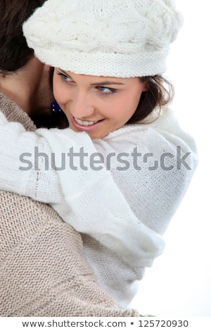 kadın · adam · kış · kar · yürümek - stok fotoğraf © photography33