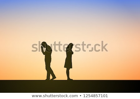 landscape of an unhappy young man and woman stock photo © photography33