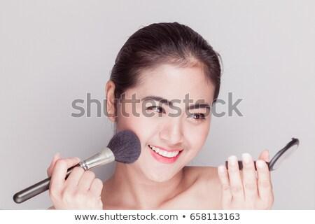 Csinos lány jelentkezik bőrpír arc nő Stock fotó © photography33