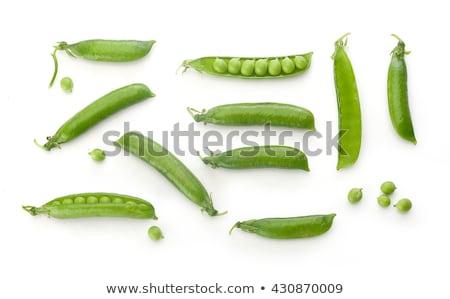 Zöldborsó hüvely izolált fehér étel természet Stock fotó © RuslanOmega