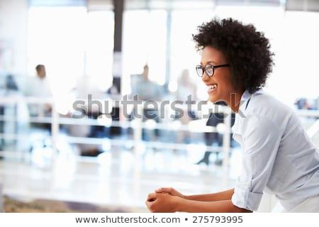 Porträt · jungen · business · woman · isoliert · weiß - stock foto © vankad