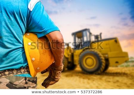 Ağır makine detay yol yapımı inşaat kamyon Stok fotoğraf © goce