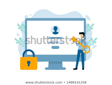 bejelentkezés · jelszó · hozzáférés · enyém · számla · számítógép - stock fotó © SVitekD