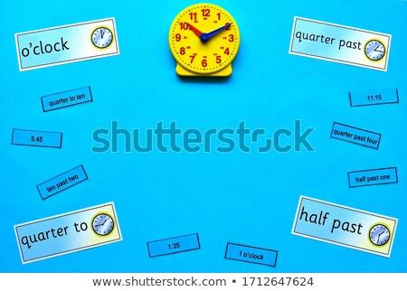 домашнее задание время копия пространства довольно девушки патио Сток-фото © bigjohn36