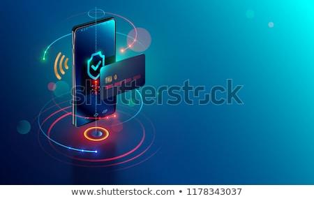 Korumalı hareketli cep telefonu zincir asma kilit güvenlik Stok fotoğraf © papa1266