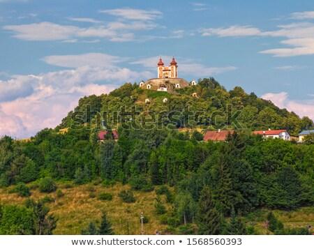 pilgrimage church at calvary banska stiavnica slovakia stock photo © phbcz