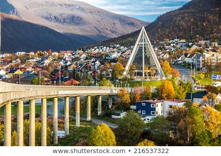 Tromso Cityscape Arctic Cathedral Stock photo © vichie81