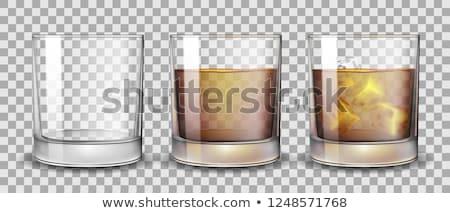 виски очки бутылку льда белый Бар Сток-фото © kornienko