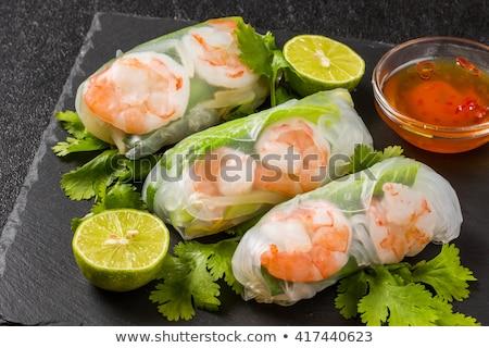 Çin · yemek · çubukları · gıda · restoran · salata · Çin - stok fotoğraf © m-studio