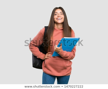 confident young student woman stock photo © lithian