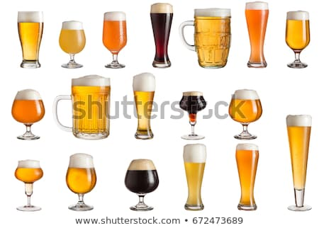 Glass of dark beer isolated on white Stock photo © ozaiachin