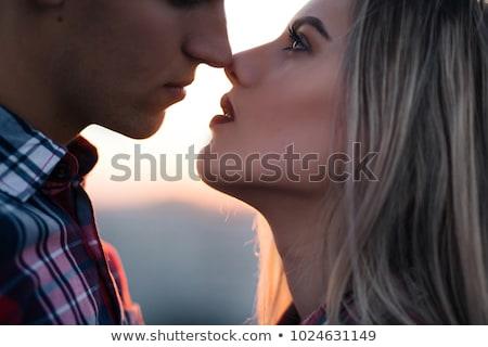 Paar staren ogen oog man witte Stockfoto © photography33