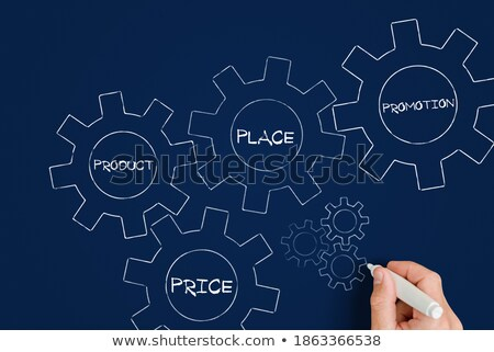 brand and business concept words in color gearwheels Stock photo © marinini