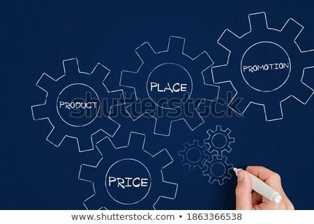 Merk business woorden kleur 3D ontwerp Stockfoto © marinini