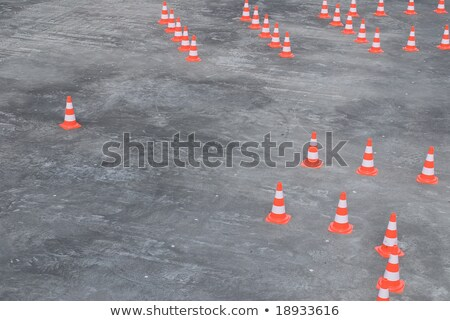 Foto stock: Large Group Of Traffic Cones