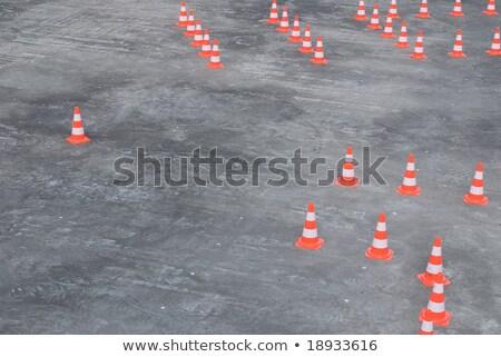 Large Group Of Traffic Cones Stockfoto © HerrBullermann