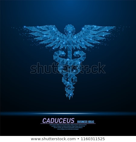 Digitális illusztráció orvosi szimbólum kórház felirat tudomány Stock fotó © 4designersart