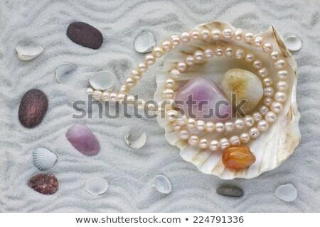 macro · collana · perle · blu · moda · mare - foto d'archivio © yul30