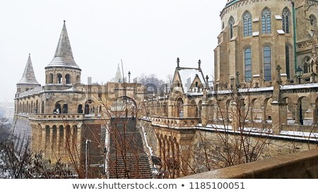 Fisherman's Bastion at winter, Budapest stock photo © neirfy