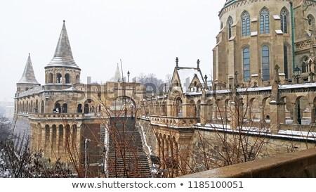Fisherman's Bastion at winter, Budapest stock photo © neirfy