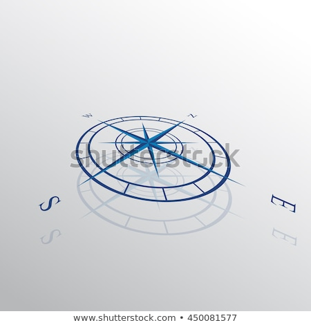 Compass rose in perspective on white background Stock photo © Lightsource