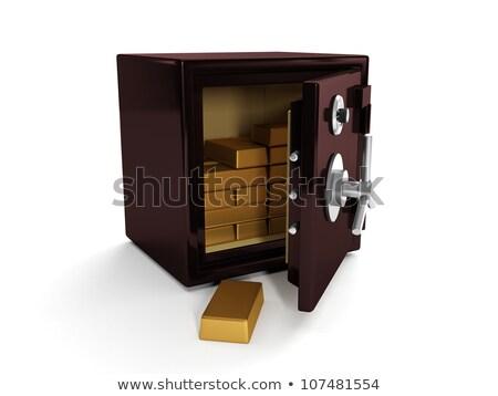 ilustração · 3d · seguro · ouro · porta · financiar - foto stock © kolobsek