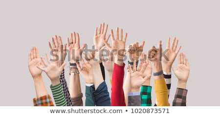 Stock photo: Diversity Show Of Hands