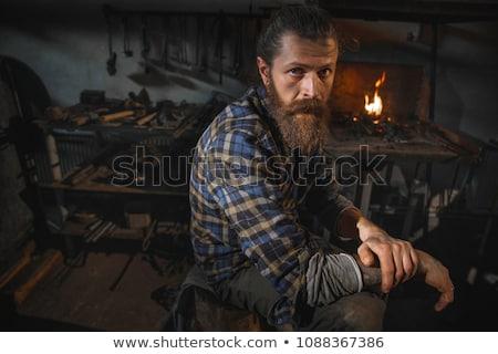 Portret mężczyzna mężczyzn pracy osoby Zdjęcia stock © iofoto