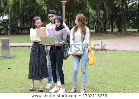 Asia estudiante retrato feliz Foto stock © szefei