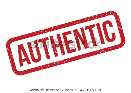 AUTHENTIC Rubber Stamp stock photo © chrisdorney