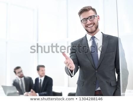 熱狂的な · 小さな · ビジネス · 執行 · 興奮した · ビジネスマン - ストックフォト © hasloo