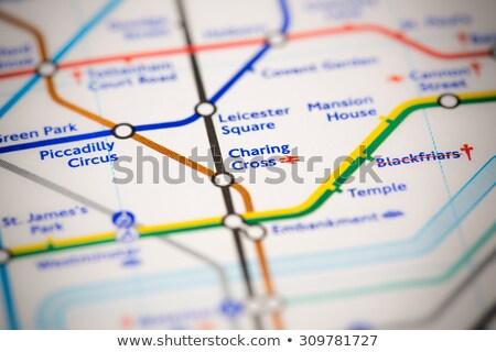 Londyn · podziemnych · umysł · luka · ostrzeżenie · podpisania - zdjęcia stock © chrisdorney