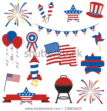 uncle sam on fireworks rocket stock photo © carbouval
