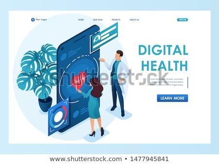 здравоохранения смартфон медицинская помощь Здоровый образ жизни телефон здоровья Сток-фото © stuartmiles
