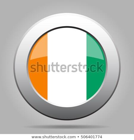 Przycisk Wybrzeże Kości Słoniowej kawy Pokaż banderą kraju Zdjęcia stock © Ustofre9
