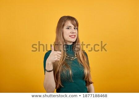Imagem mulher atraente isolado branco mulher Foto stock © stepstock