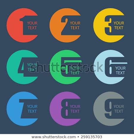 színes · absztrakt · ikonok · szám · szett · nem - stock fotó © cidepix
