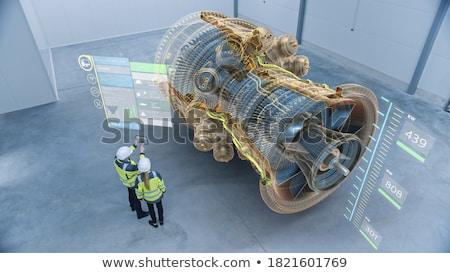 ışık · pencere · fabrika · Retro · motor · raf - stok fotoğraf © Ariusz